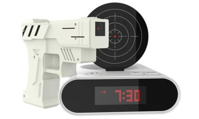 trademark games toy gun alarm clock